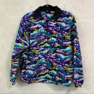 VINTAGE Timberline Colorado 1/4 zip ski sweater S